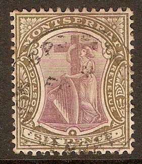 Montserrat 1903 6d Dull purple and olive. SG19.