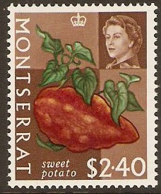 Montserrat 1965 $2.40 Fruits and Vegetables Series. SG175.