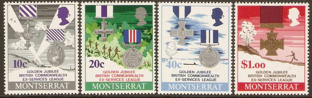 Montserrat 1971 Commonwealth Stamps Set. SG272-SG275.