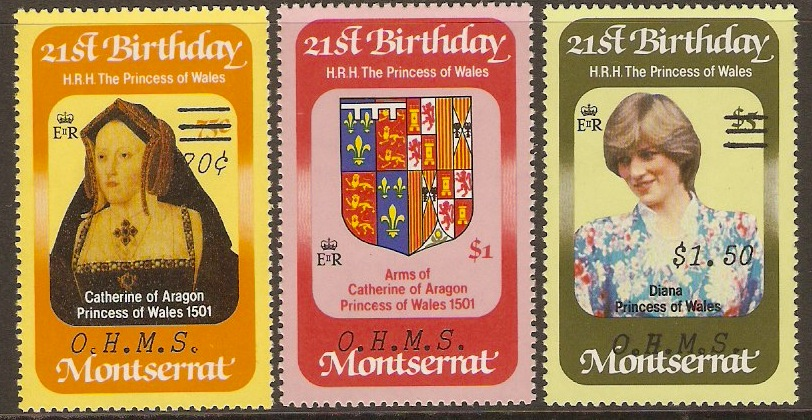 Montserrat 1983 Princess of Wales Official Set. SGO59-SGO61.