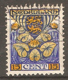 Netherlands 1926 15c (+3c) Yellow and deep ultramarine. SG353A.