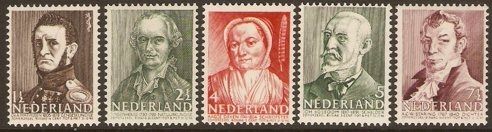 Netherlands 1941 Portraits Set. SG558-SG562.