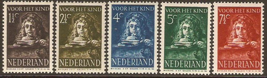 Netherlands 1941 Child Welfare Set. SG563-SG567.