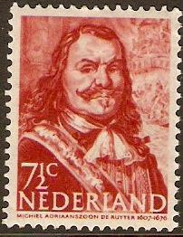 Netherlands 1943 7½c brown (redrawn). SG578a.