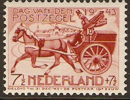 Netherlands 1943 Stamp Day. SG589.