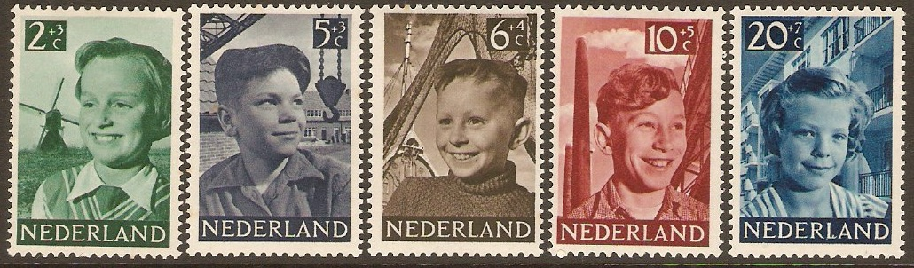 Netherlands 1951 Child Welfare Set. SG737-SG741.