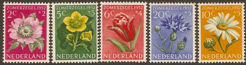 Netherlands 1952 Flowers Set. SG749-SG753.