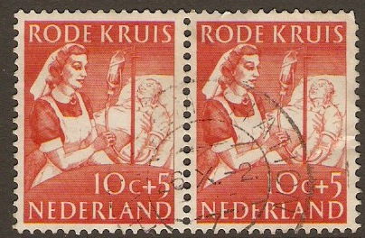 Netherlands 1953 10c+5 Red Cross Series. SG772.