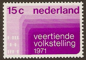 Netherlands 1971 Census Stamp. SG1125.