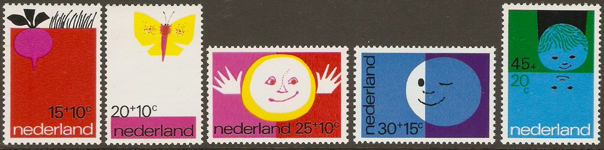 Netherlands 1971 Child Welfare Set. SG1137-SG1141.