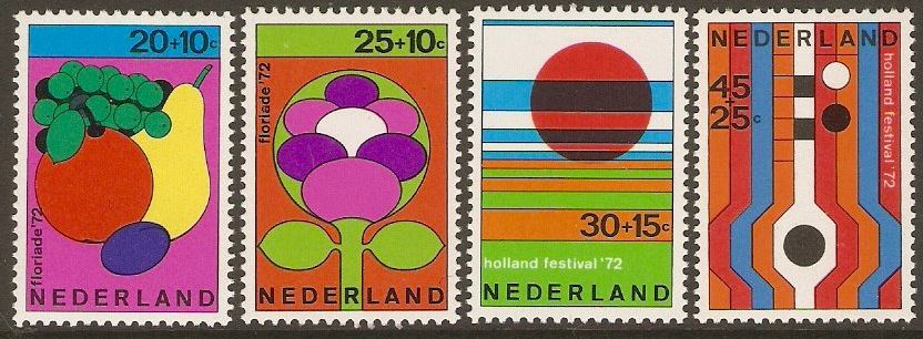Netherlands 1972 Welfare Set. SG1144-SG1147.