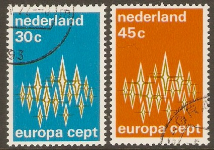 Netherlands 1972 Europa Stamps Set. SG1148-SG1149.
