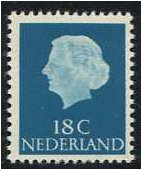 Netherlands 1953 18c. Greenish Blue. SG777b.