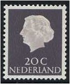 Netherlands 1953 20c. Slate-Purple. SG778.