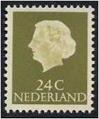 Netherlands 1953 24c. Yellow-Olive. SG778b.