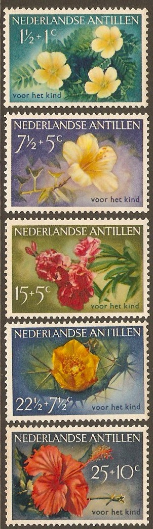 Netherlands Antilles 1955 Flowers Set. SG345-SG349.