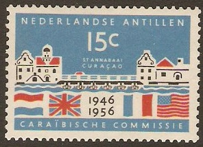 Netherlands Antilles 1956 Caribbean Commission Anniversary. SG35