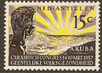 Netherlands Antilles 1957 Mental Health Congress Stamp. SG358.