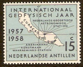Netherlands Antilles 1957 Geophysical Year Stamp. SG367.