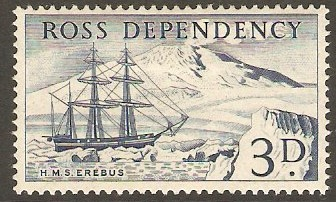 Ross Dependency 1957 3d Indigo. SG1.