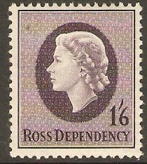 Ross Dependency 1957 1s.6d Slate-purple. SG4.