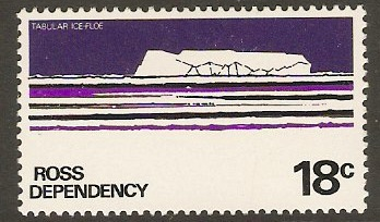 Ross Dependency 1972 18c Black, violet and light violet. SG14a.