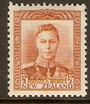 New Zealand 1938 ½d Orange-brown. SG604.
