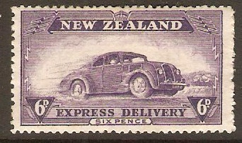 New Zealand 1936 6d Violet - Express Delivery Stamp. SGE6.