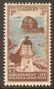 New Zealand 1947 1s Life Insurance Stamp. SGL49.