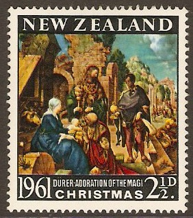 New Zealand 1961 2½d Christmas Stamp. SG809.