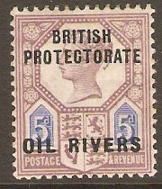 Oil Rivers 1892 5d Dull purple and blue. SG5.