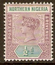 Northern Nigeria 1900 ½d Dull mauve and Green. SG1.