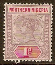Northern Nigeria 1900 1d Dull mauve and carmine. SG2.