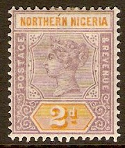 Northern Nigeria 1900 2d Dull mauve and yellow. SG3.