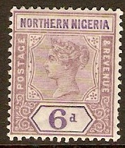 Northern Nigeria 1900 6d Dull mauve and violet. SG6.
