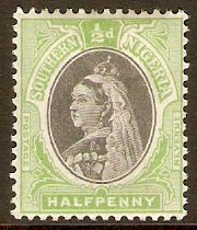 Southern Nigeria 1901 ½d Black and pale green. SG1.