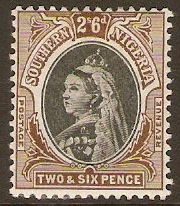 Southern Nigeria 1901 2s.6d Black and brown. SG7.