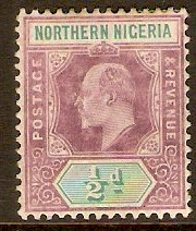 Northern Nigeria 1902 ½d Dull purple and green. SG10.