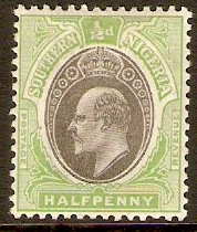 Southern Nigeria 1903 ½d Grey-black and pale green. SG10.