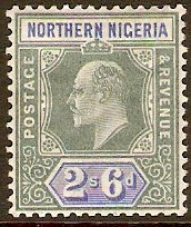 Northern Nigeria 1905 2s.6d Green and ultramarine. SG27.