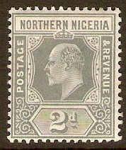 Northern Nigeria 1910 2d Grey. SG30.