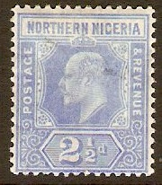 Northern Nigeria 1910 2½d Blue. SG31.