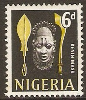 Nigeria 1961 6d Yellow and black. SG95.