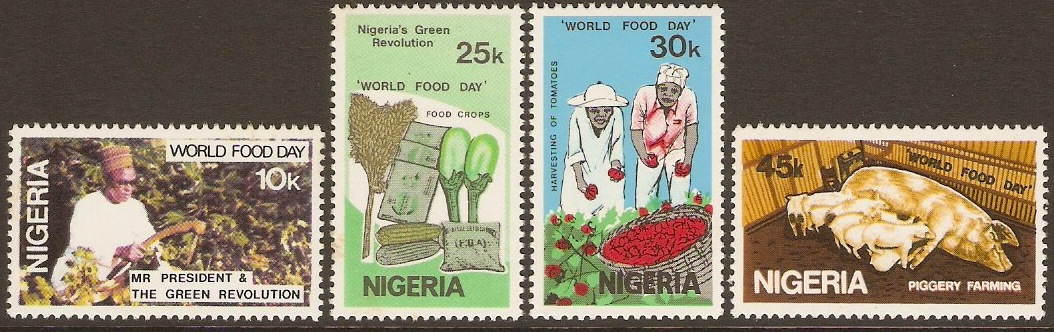 Nigeria 1981 World Food Day Set. SG423-SG426.