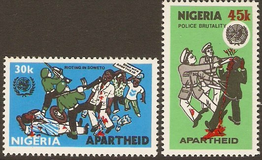 Nigeria 1981 Anti-Apartheid Set. SG427-SG428.