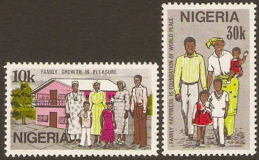 Nigeria 1983 Family Day Set. SG446-SG447.