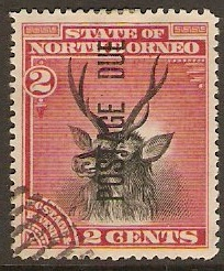 North Borneo 1895 2c Black and lake Postage Due. SGD2.