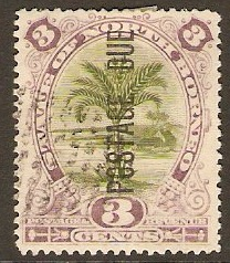 North Borneo 1895 3c Olive-green and dull purple. SGD3.