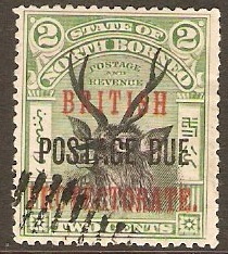 North Borneo 1902 2c Black and grn Postage Due. SGD38.