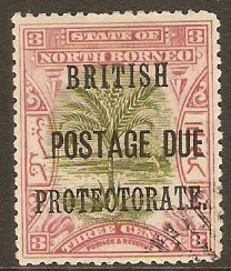 North Borneo 1902 3c Green and rosy-mauve. SGD39.